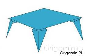 оригами подставка из бумаги