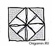 оригами рамка из бумаги