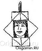 оригами самовар из бумаги