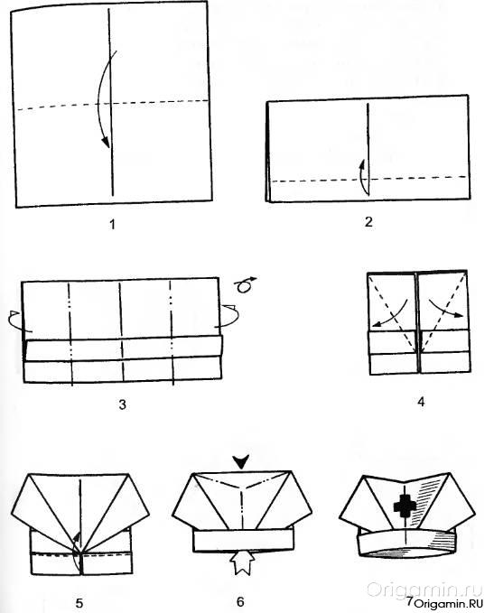 шапки из бумаги из бумаги