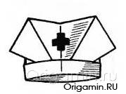 оригами шапка из бумаги