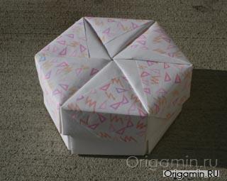оригами шкатулка из бумаги