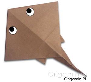 оригами скат из бумаги
