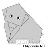 оригами слон из бумаги