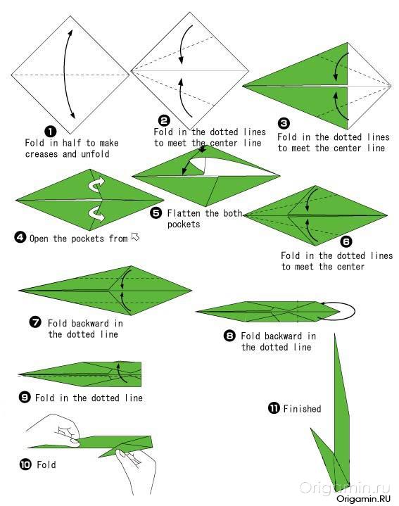 Как делать оригами яблоко