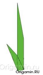 оригами стебель из бумаги