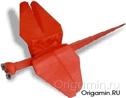 оригами стрекоза из бумаги