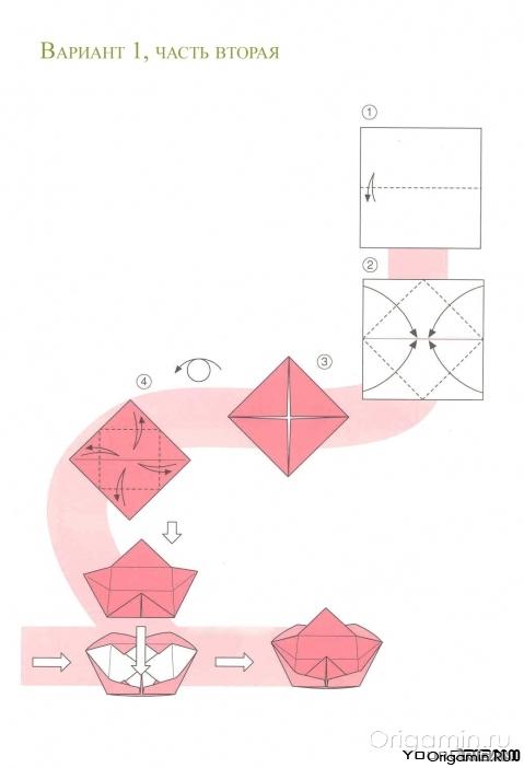 Оригами тарелка