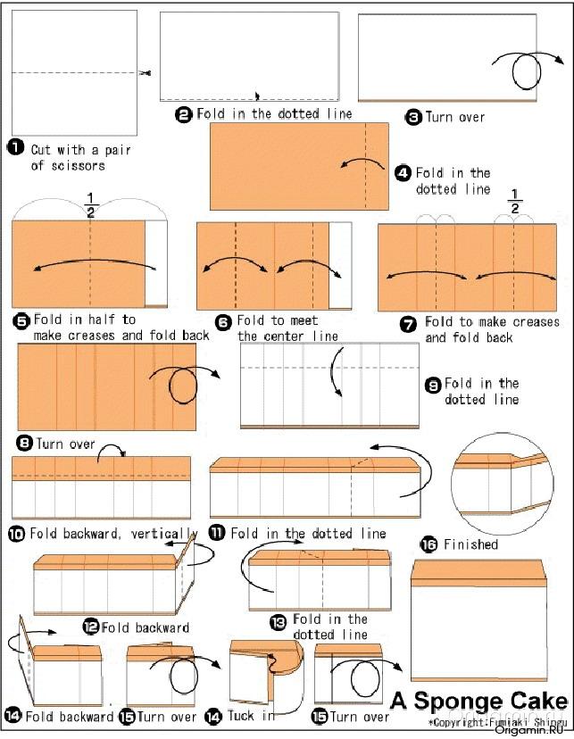 Модульные оригами торт схема 83