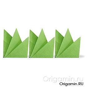 оригами трава из бумаги