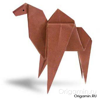 оригами верблюд из бумаги