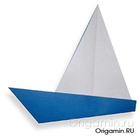 оригами яхта из бумаги