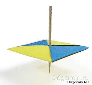 оригами юла из бумаги