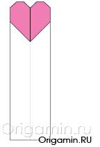 оригами закладка из бумаги