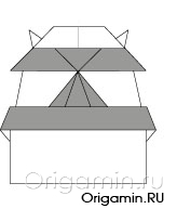 оригами замок из бумаги