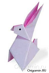 оригами заяц из бумаги