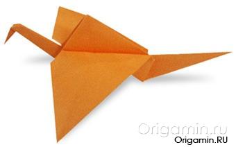 оригами журавль из бумаги