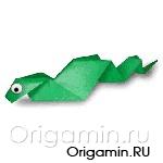 оригами змея из бумаги