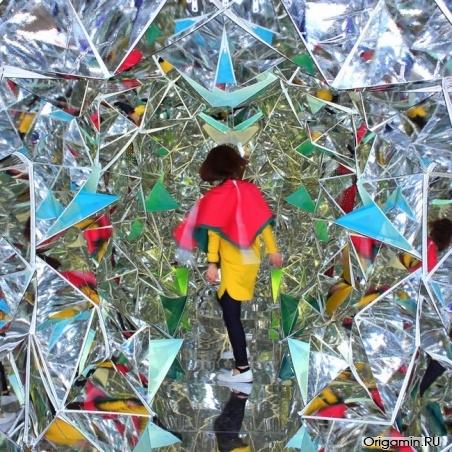 Оригами калейдоскоп-тоннель