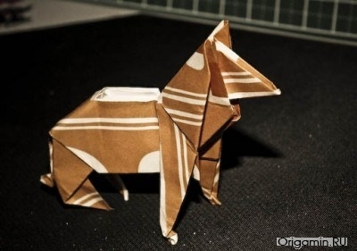 Оригами овчарки