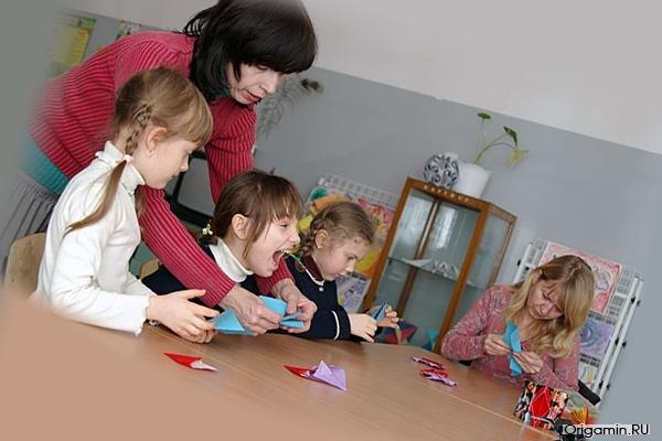 Дети, занимающиеся оригами становятся креативными людими