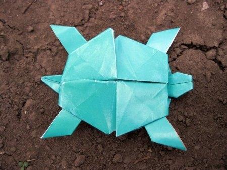 Забавная оригами черепашка
