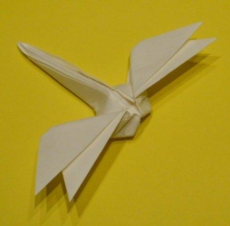 Оригами весёлая стрекоза