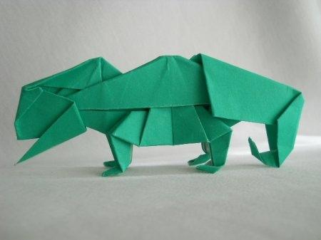 Оригами хамелеон для профессионалов