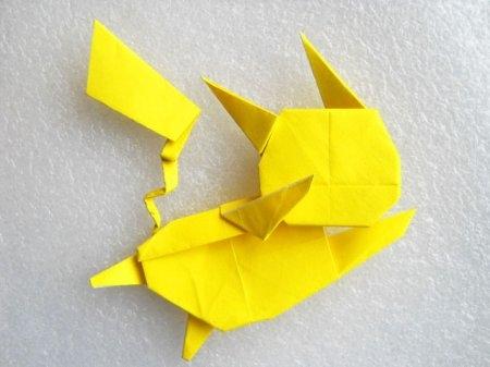 Оригами пикачу для профессионалов