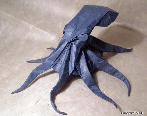 Оригами осьминога
