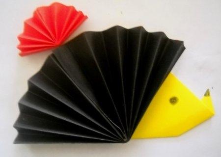 Поделки оригами ежики 25