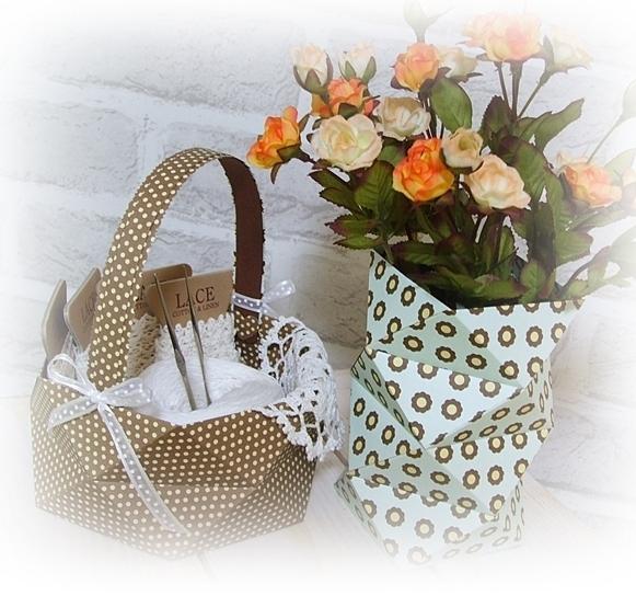 «Ломаная» ваза из бумаги