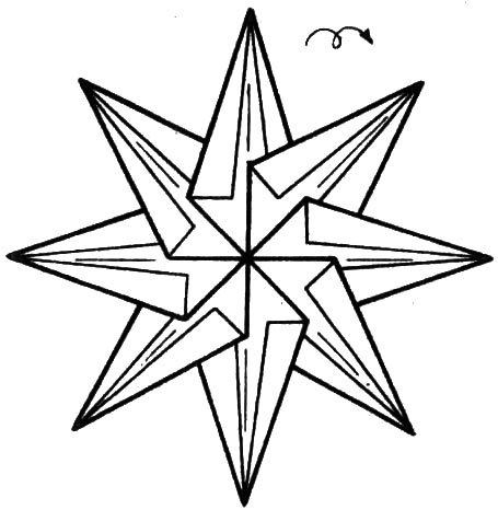 Восьмиконечная звезда своими руками